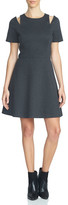 1 STATE 1.State Shoulder Cutout Fit & Flare Dress