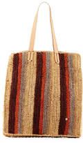 Flora Bella Ravello Striped Crochet Raffia Tote Bag