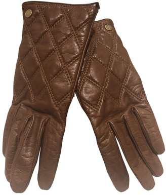 Mulberry Brown Leather Gloves
