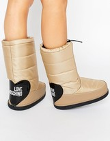 Love Moschino Beige Snow Boots