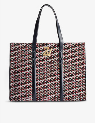 Zadig & Voltaire ZV Initiale Le Tote leather monogram tote bag