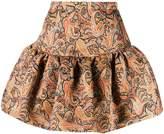 Christopher Kane structured paisley skirt