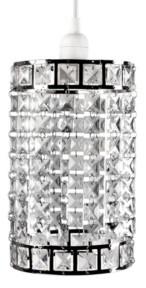 Sleeping Partners Tadpoles Faux-Crystal and Chrome Cylinder Shape Pendant