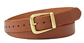 Fossil Tan Beveled Jean Belt