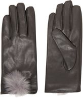 Isotoner Leather Glove with Pom Pom Boxed