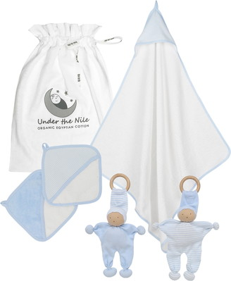 Under the Nile 5-Piece Organic Egyptian Cotton Bath & Teething Gift Set
