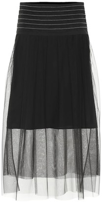 Brunello Cucinelli Exclusive to Mytheresa a Tulle midi skirt