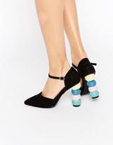 Daisy Street Macaroon Point Heeled Shoes