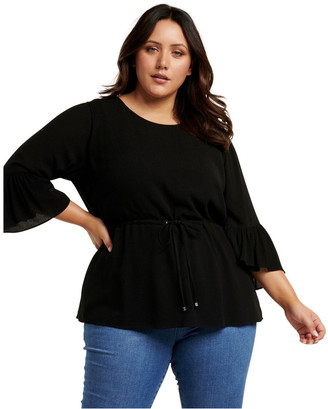 Forever New Curve Tammy Frill Sleeve Curve Blouse