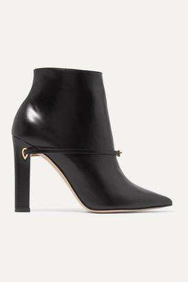 Jennifer Chamandi Nicolo 105 Leather Ankle Boots - Black
