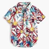 J.Crew Boys' short-sleeve Secret Wash shirt in crazy daisy