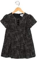 Rachel Riley Girls' Metallic Tweed Short Dress