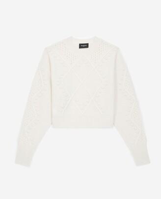 The Kooples Textured ecru sweater in wool/cashmere