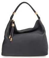 Michael Kors 'Large Skorpios' Leather Hobo - Black