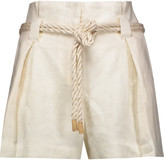 L'Agence Edie linen shorts
