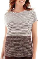 Liz Claiborne Short-Sleeve Colorblock T-Shirt