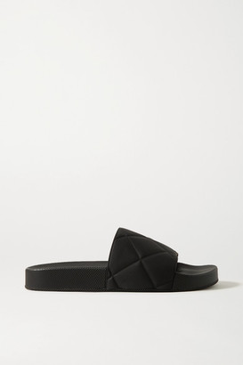Bottega Veneta Embossed Rubber Slides - Black