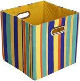 Rusty GiggleDots Canvas Folding Storage Bin Stripes