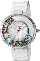 Betsey Johnson Women's BJ00578-01 Analog Display Quartz White Watch