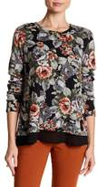Bobeau Floral Bow Back Sweater