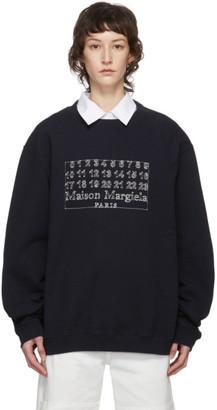 Maison Margiela Navy Logo Sweatshirt