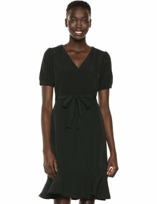 Nanette Lepore Women's Puff Ss Flounce Hem & Ruffle Collar