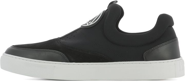 McQ Black Fabric Slip-on