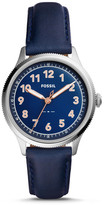 Fossil Avondale Three-Hand Blue Leather Watch