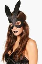 boohoo Hanna Glitter Bunny Mask