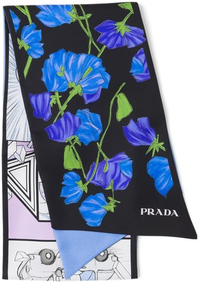 Prada Double Match silk neck bow