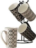 Tabletops Unlimited Tabletops Gallery Black 5-pc. Mug Tree Set