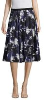 Jason Wu Palm-Print Cotton A-Line Skirt