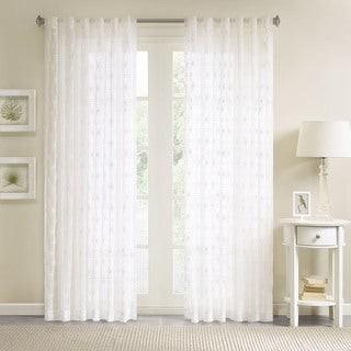 Madison Home USA Kida Embroidered Sheer Curtain Panel