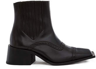 Martine Rose Dark Grey Leather Tonton Boot