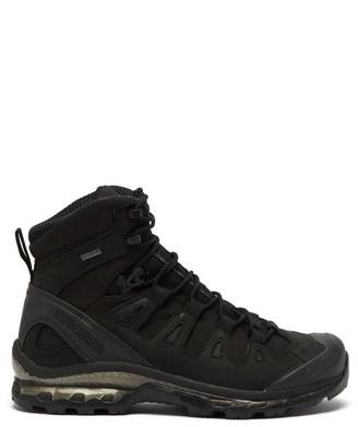 Salomon 4d Gtx Advanced Nubuck-leather And Mesh Boots - Black