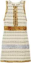 Callinga embellished striped tweed dress