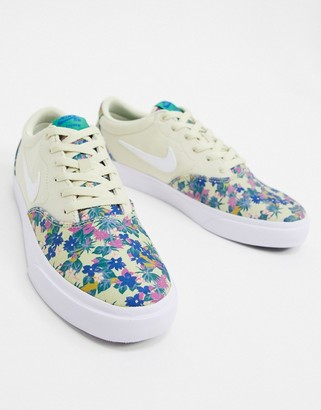 Nike SB Charge Premium trainers in floral print
