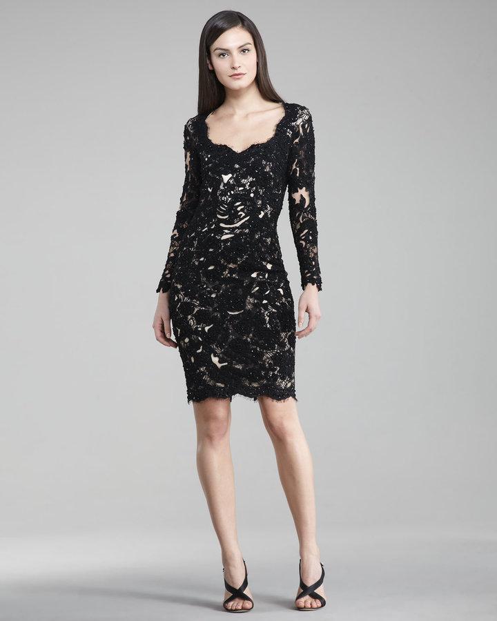 Mandalay Long-Sleeve Lace Dress