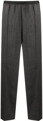 Plan C High-Rise Wide-Leg Trousers