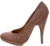 Nina Ricci Textured Round-Toe Pumps