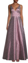 Thumbnail for your product : ML Monique Lhuillier Metallic Floral Ball Gown