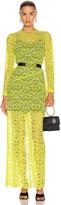 Marques Almeida Marques ' Almeida Long Lace Dress in Yellow | FWRD