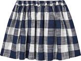 Jigsaw Girls' Gingham Skirt, Navy