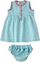Cath Kidston Mini Check Baby Dress Trim And Brief