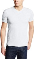 Mod-o-doc Men's Slub Jersey Vintage Fit Short Sleeve High V-Neck Tee