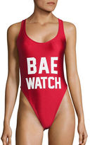 Private Party BAE Watch One-Piece Swimsuit