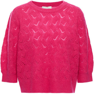 Joie Jenise Pointelle-knit Wool And Cashmere-blend Sweater