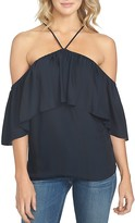 1 STATE 1.STATE Cold Shoulder Ruffle Top