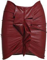 Etoile Isabel Marant Zephira Ruffled Faux-leather Mini Skirt