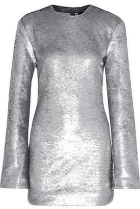RtA Carringthon Sequined Cotton-blend Mini Dress